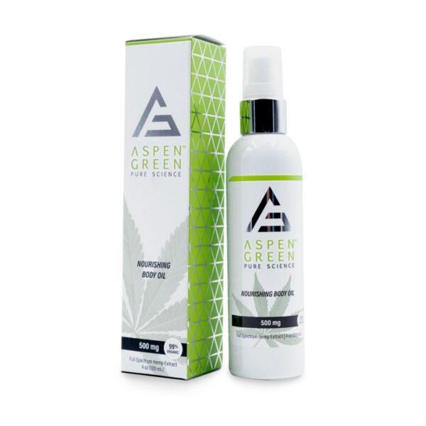 Aspen Green USDA Certified - 500mg Nourishing Body Oil with box