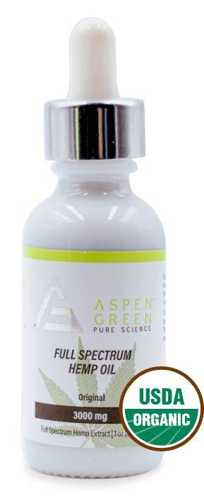 Aspen Green USDA Certified - 3000mg Full Spectrum Hemp Oil