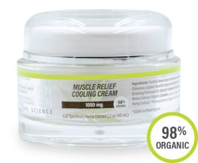 Aspen Green USDA Certified - 1000mg Muscle Relief Cooling Cream