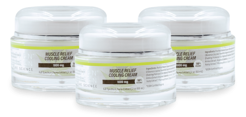 3 pack of Aspen Green's 1000mg Muscle Relief Cooling Cream