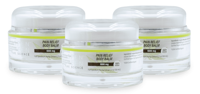 3 pack of Aspen Green's Pain Relief Body Balm