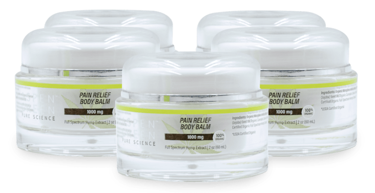5 pack of Aspen Green's Pain Relief Body Balm