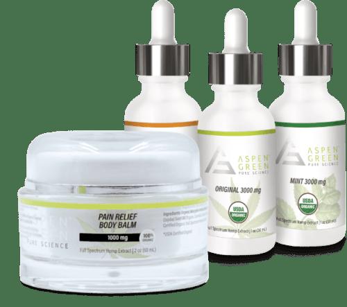 Aspen Green's 3000mg Full Spectrum Hemp Extract & Pain Relief Body Balm