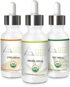 Aspen Green's 3000mg Full Spectrum Hemp Extract Flavors