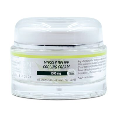 Aspen Green's USDA Certified - 1000mg Muscle Relief Cooling Cream