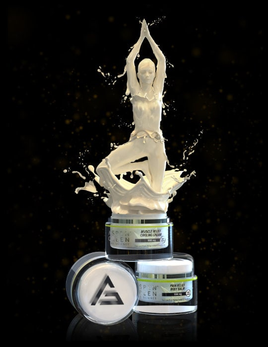 Yoga woman made out of cream